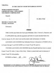 court-order-on-newton-demurrer-03-13-12