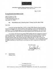 newton-response-to-wmscog-settlement-offer-05-11-12