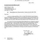 Newton Response to WMSCOG Settlement Offer – WMSCOG vs Colon, Newton VA #2011-17163
