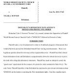 Newton Opposition to WMSCOG Motion for Protective Order – WMSCOG vs Colon, Newton VA #2011-17163