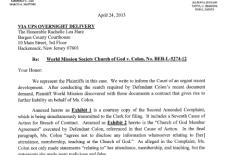 Second Amended Complaint – WMSCOG et al. vs. Colón et al. – NJ BER-L-5274-12